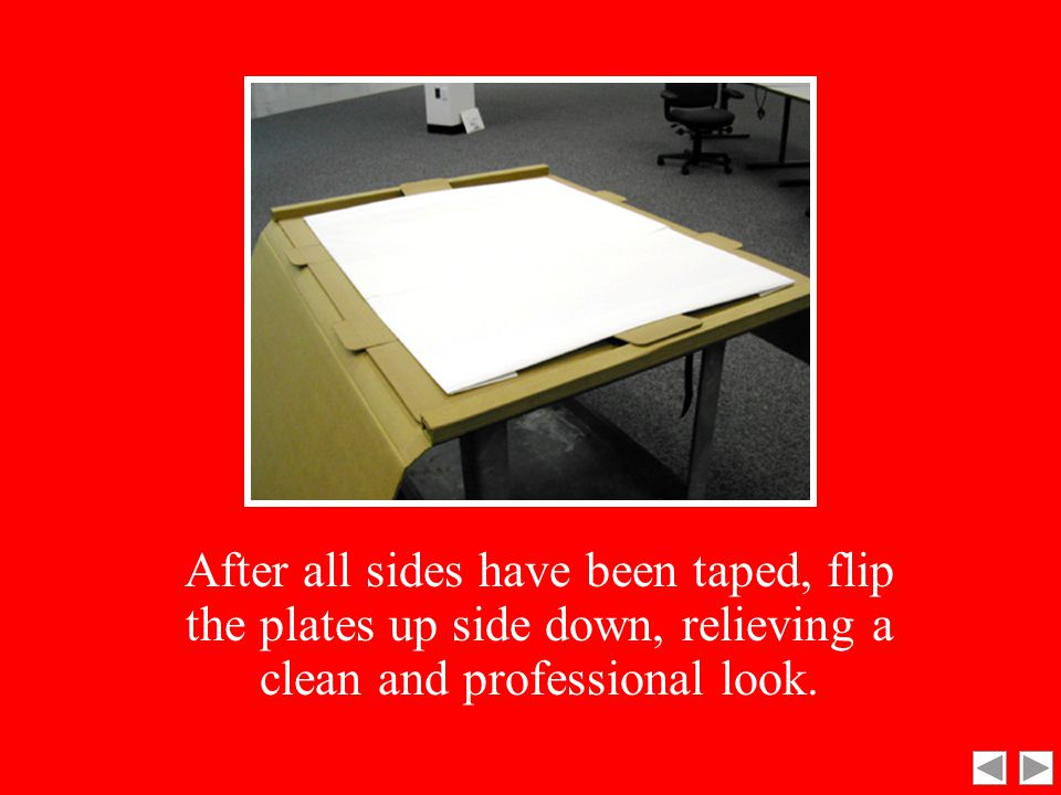Next, take the bottom and top sides, and fold and tape.
