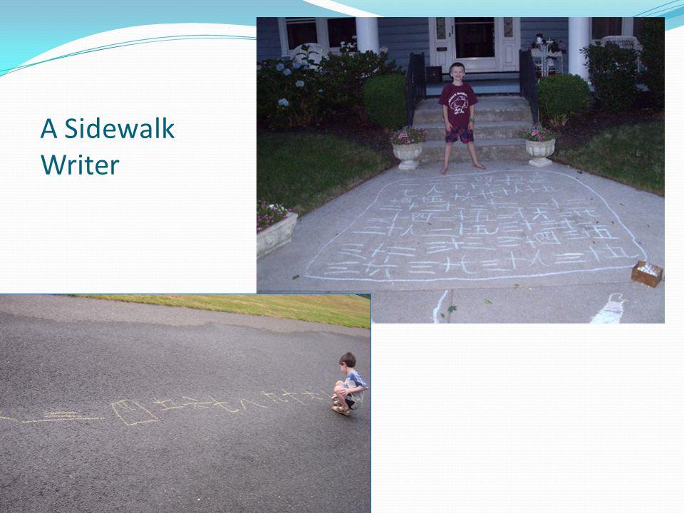 A Sidewalk Writer 48