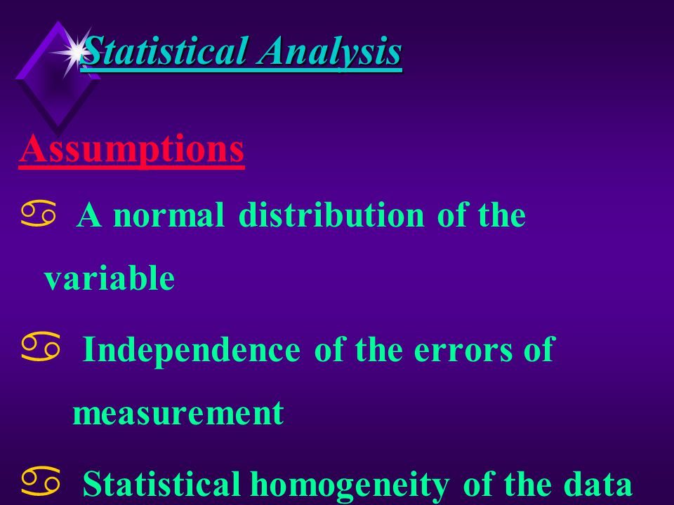 Statistical Analysis Testing of Bias v Paired samples v One member is the System under test v Other one Reference Z An intrinsically unbiased sample Z To be obtained by stopping belt method v Series of differences are subjected to Statistical analysis