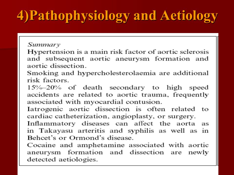 4)Pathophysiology and Aetiology