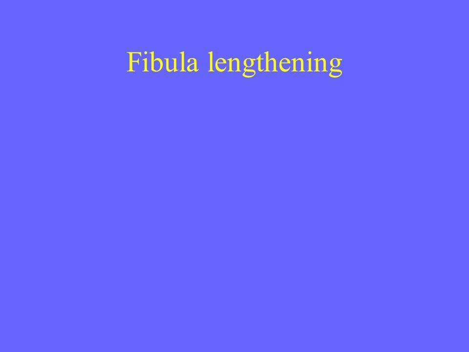 Fibula lengthening