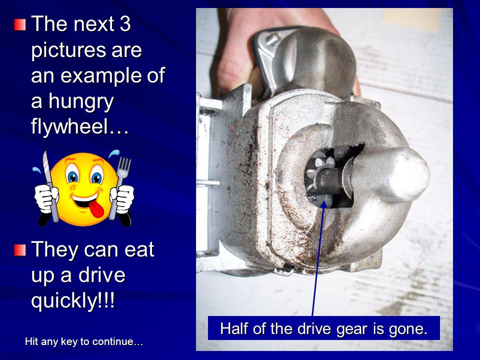 The next 3 pictures are an example of a hungry flywheel… They can eat up a drive quickly!!.