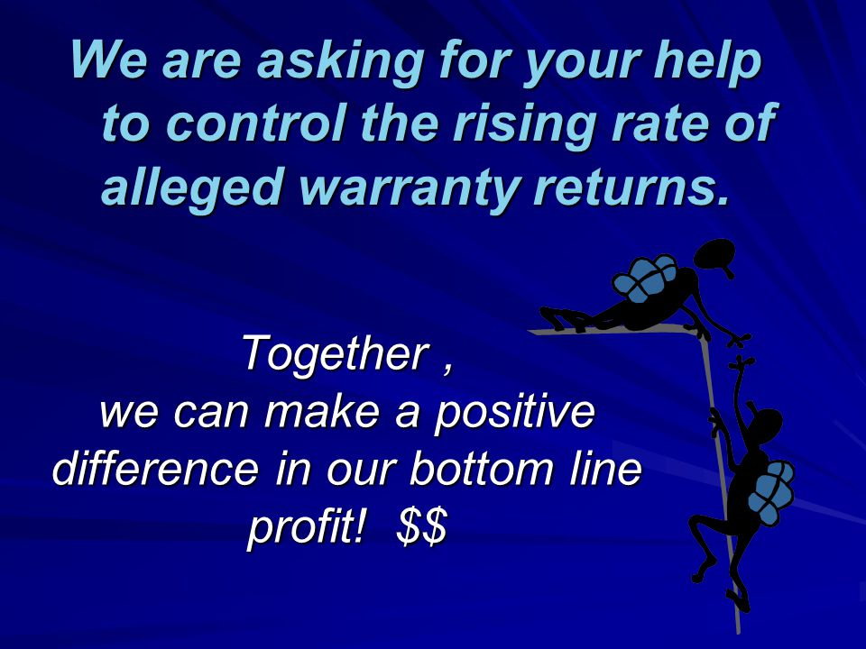 Together, we can make a positive difference in our bottom line profit.