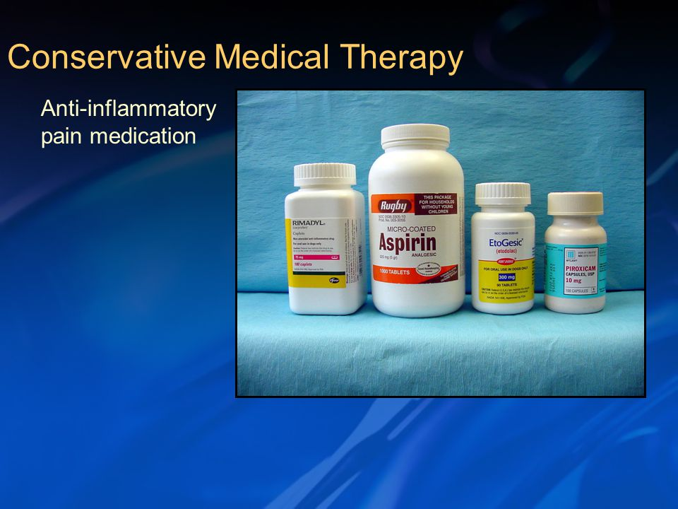 Anti-inflammatory pain medication Conservative Medical Therapy