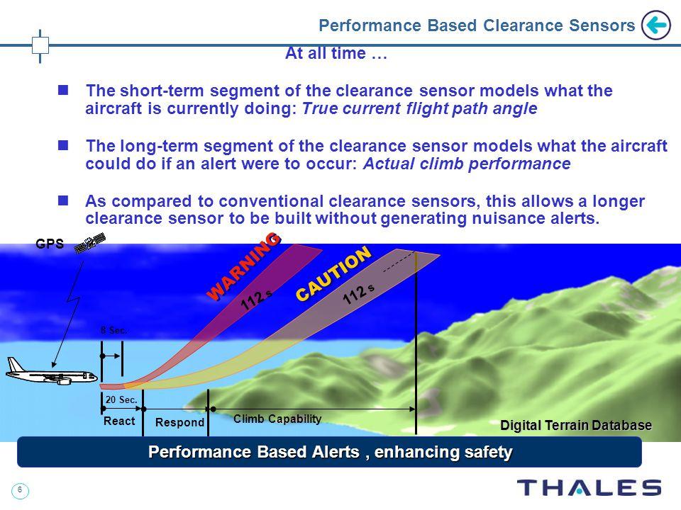 6 Performance Based Clearance Sensors Digital Terrain Database WARNING 8 Sec.