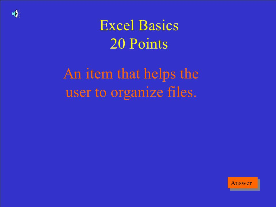 What is a Button Game Board Excel Basics 10 Points