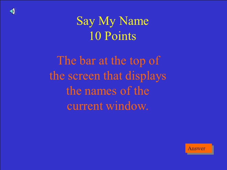 What is a Dialog Box Game Board Excel Basics 50 Points