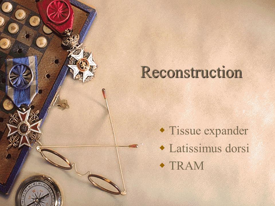 Reconstruction  Tissue expander  Latissimus dorsi  TRAM
