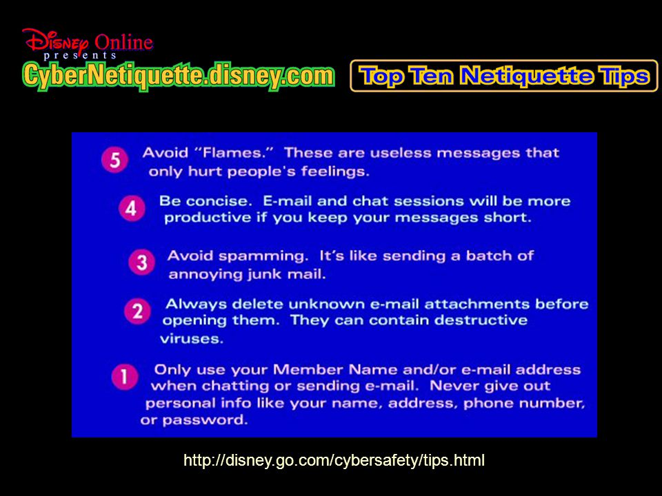 April 29, 2006Linda Newell13 http://disney.go.com/cybersafety/tips.html