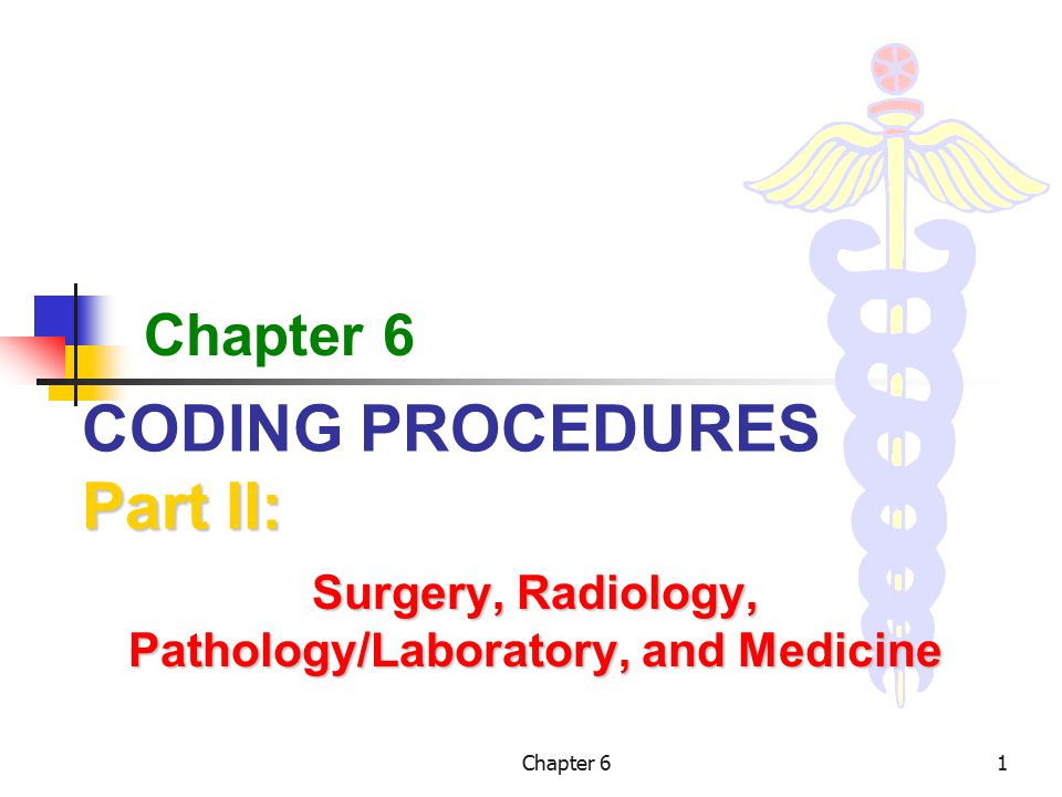 Chapter 622 Surgical Package Surgical Package – Cont.