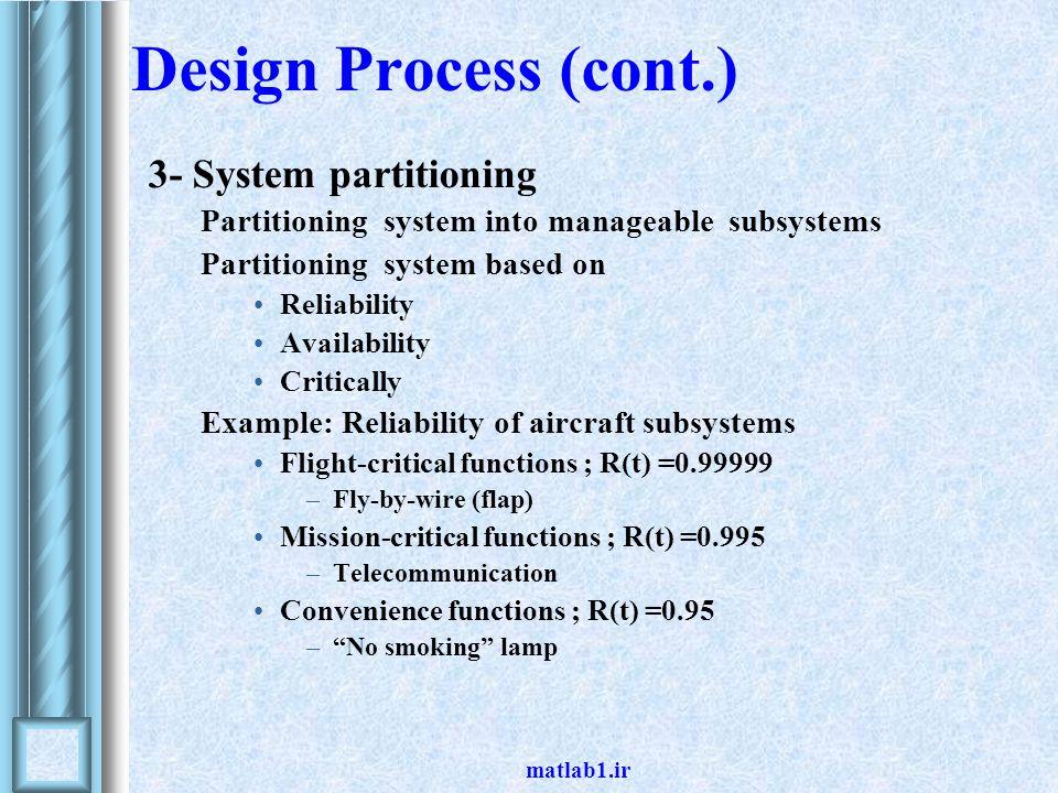 matlab1.ir Design Process (cont.) 4- Candidate designs - TMR vs.