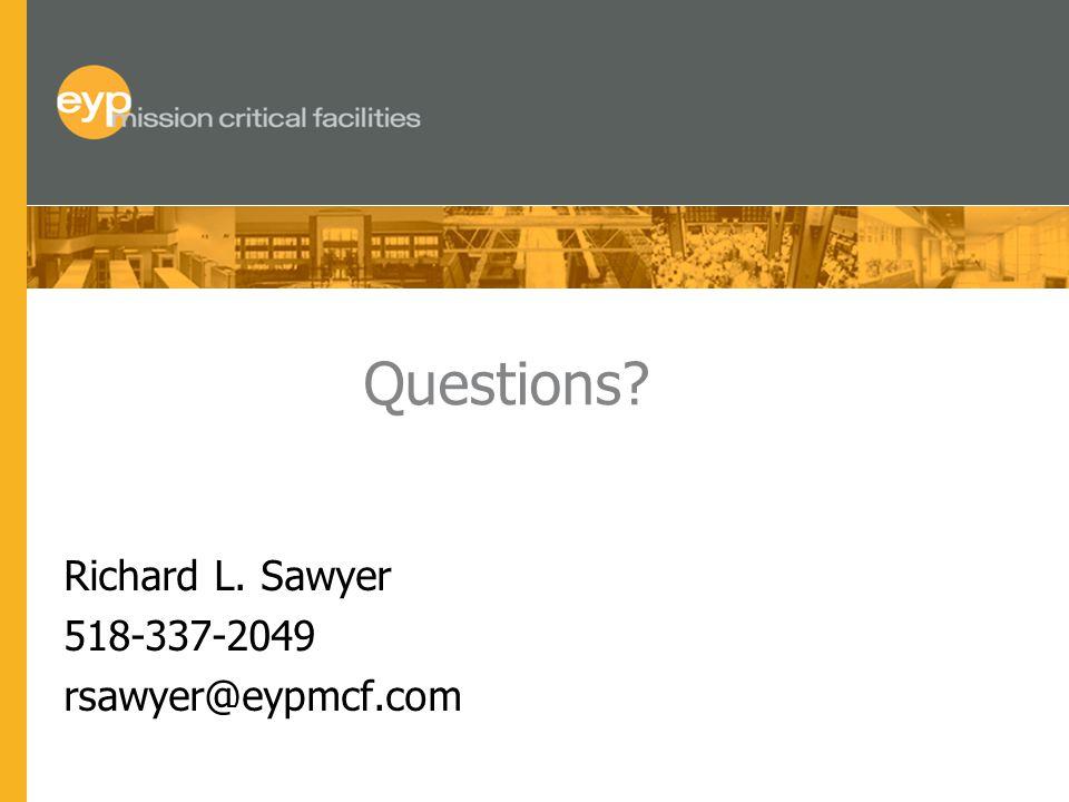 Questions? Richard L. Sawyer 518-337-2049 rsawyer@eypmcf.com