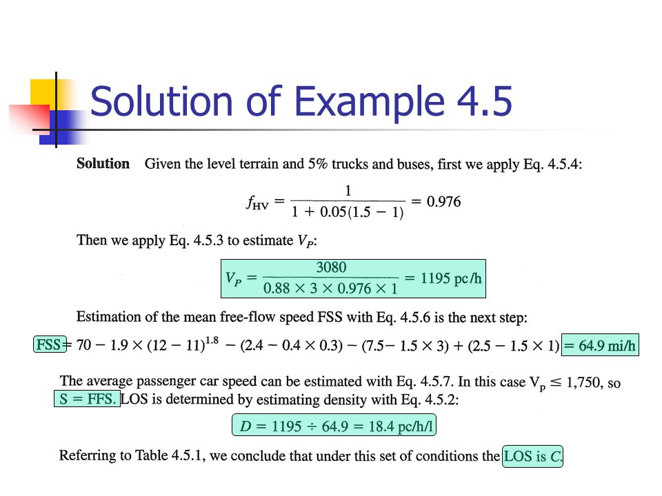 Solution of Example 4.5