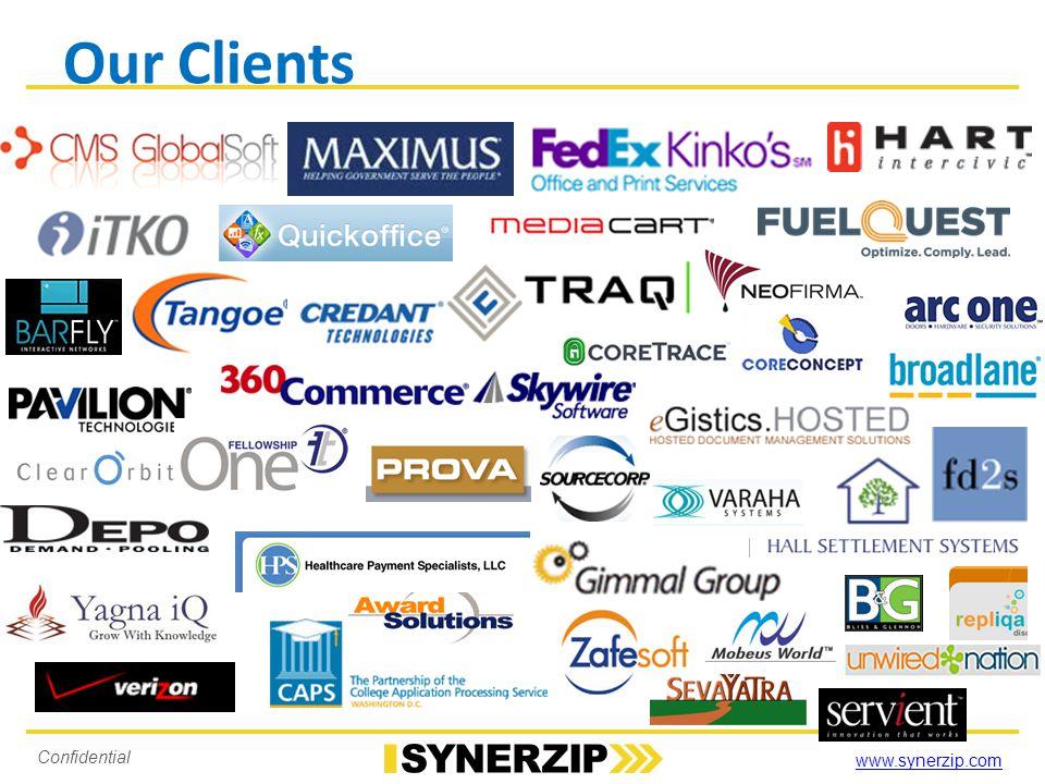 www.synerzip.com Confidential Our Clients