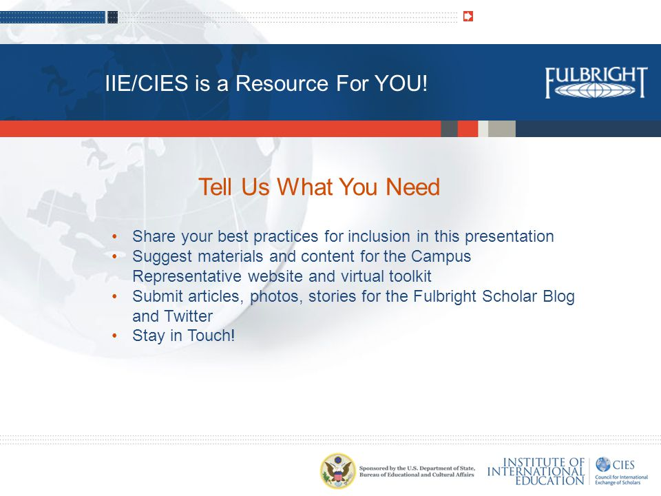 IIE/CIES is a Resource For YOU.