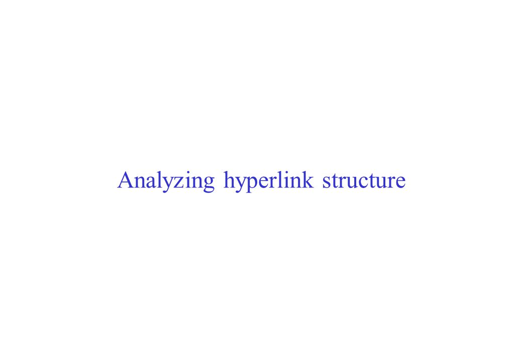 Soumen Chakrabarti IIT Bombay 36 Hyperlink graph analysis Hypermedia is a social network –Telephoned, advised, co-authored, paid, cited Social network theory (cf.