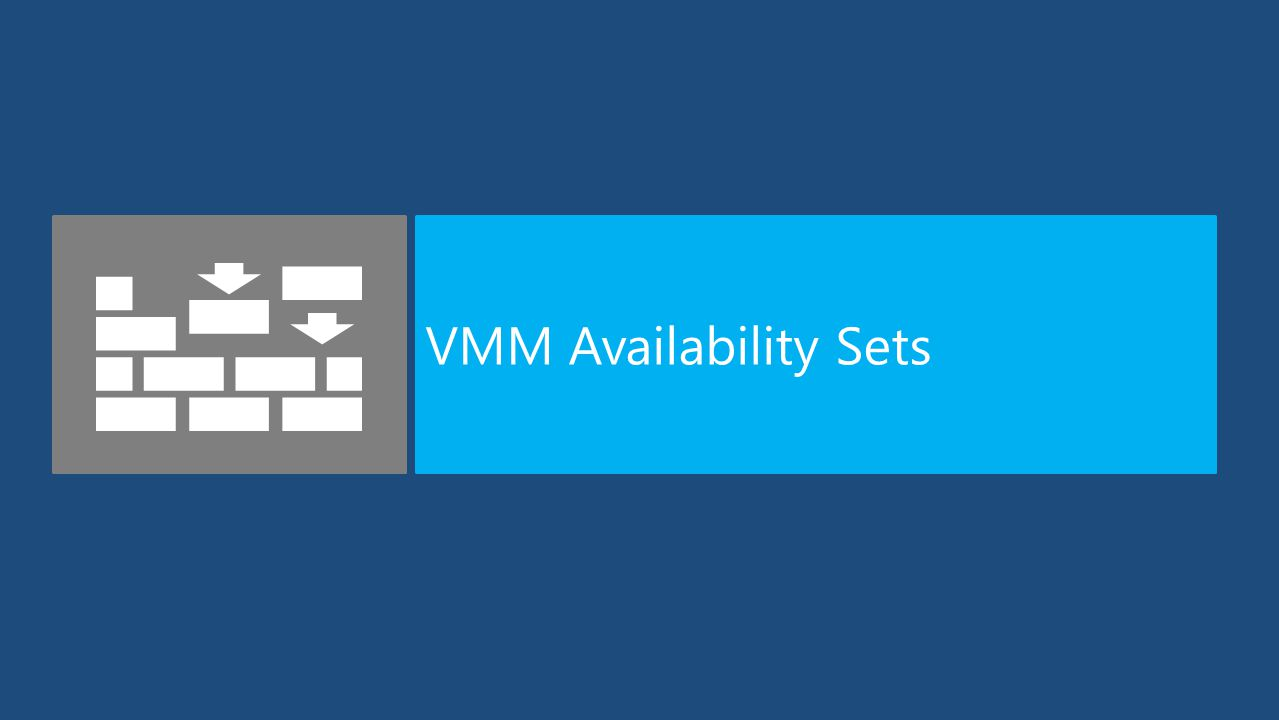 VMM Availability Sets