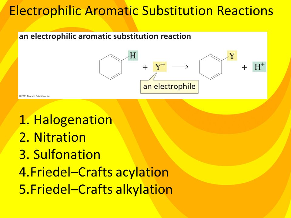 Electrophilic Aromatic Substitution Reactions 1. Halogenation 2.