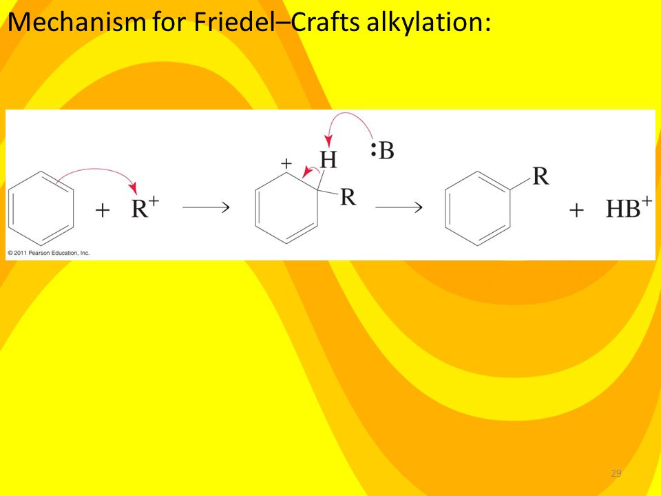 29 Mechanism for Friedel–Crafts alkylation: