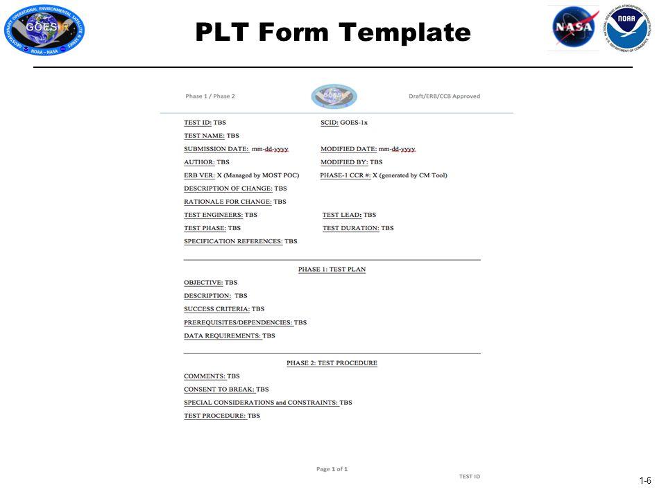 1-6 PLT Form Template