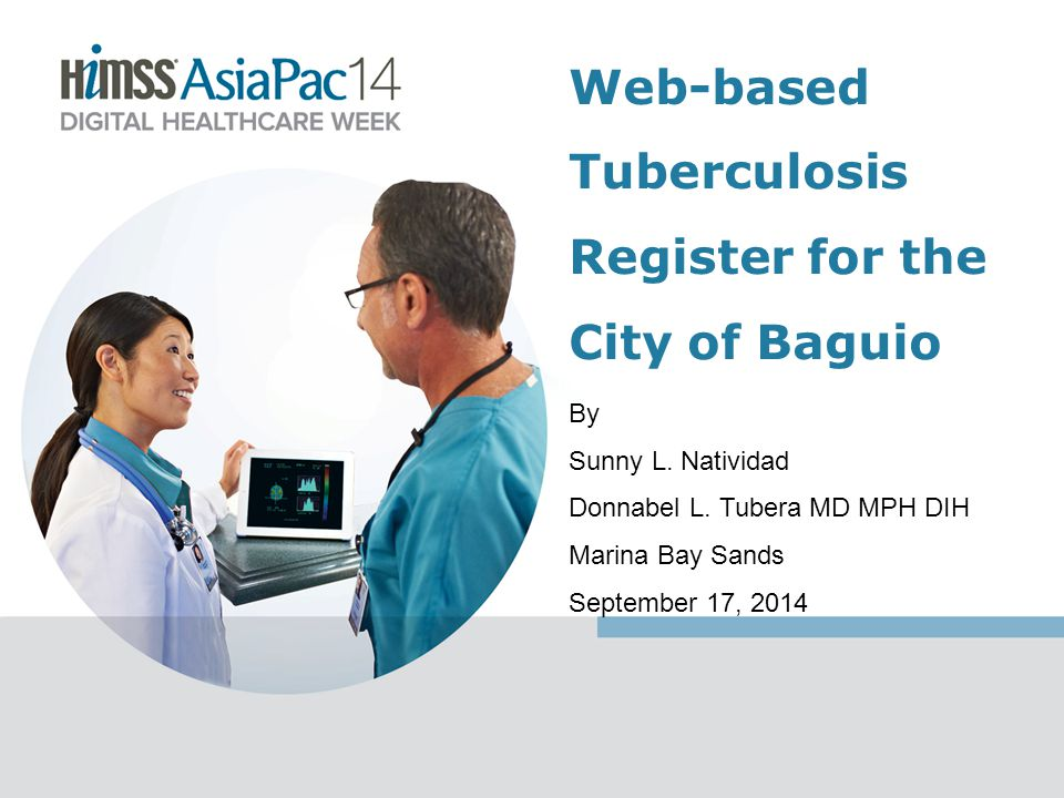 Objectives To determine the problems encountered in the current TB Register; To develop the features needed in analyzing and recording patient's information; and To support the judgments of the health officials on where to focus in preventing the spread of TB.