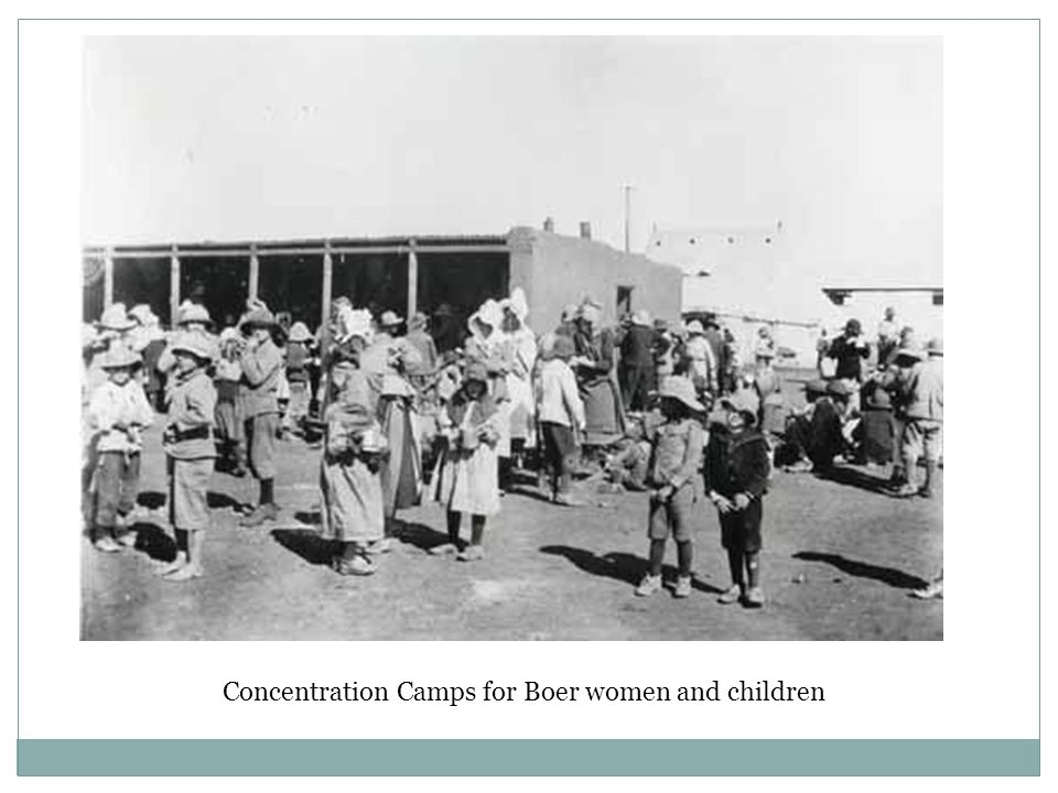 Concentration Camps for Boer women and children