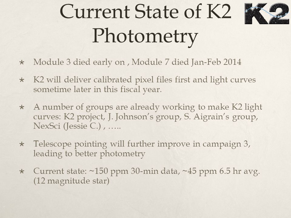 K2 C0 CDPP-like Results