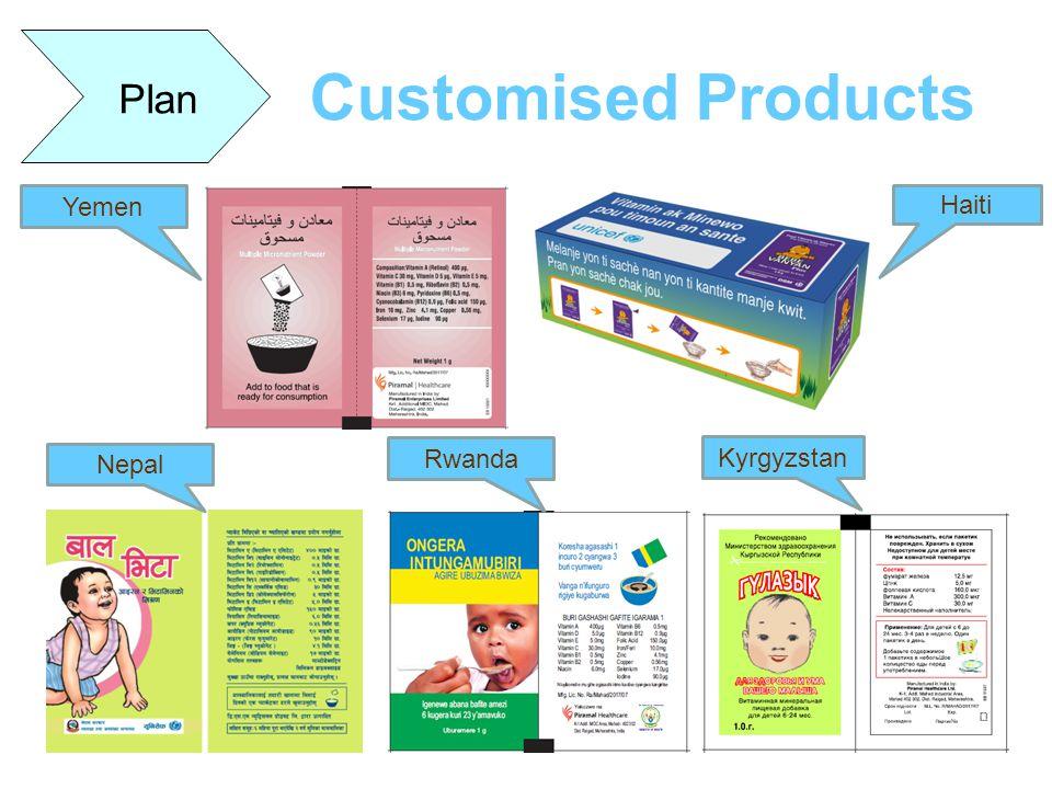 Customised Products Plan Yemen Haiti Nepal Kyrgyzstan Rwanda