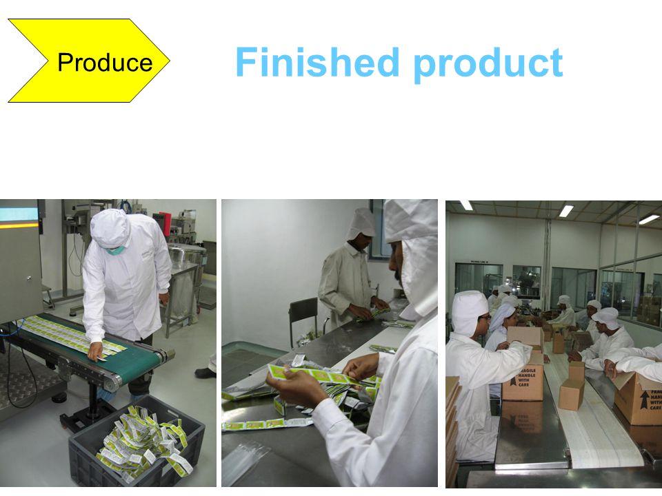 Finished product Produce