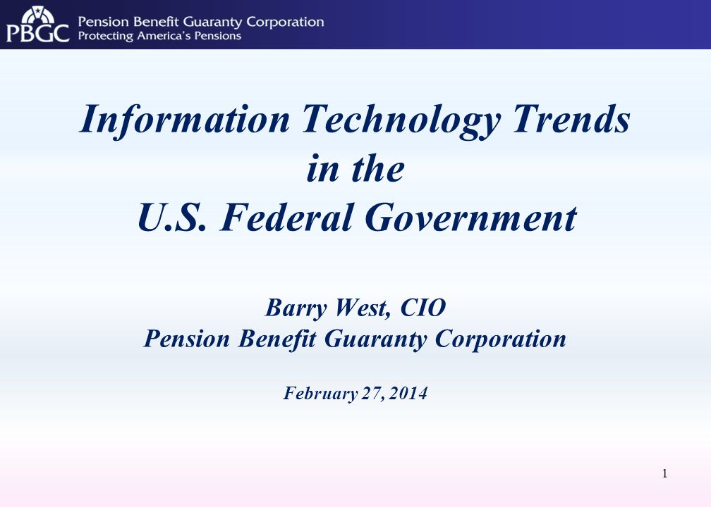 Information Technology Trends in the U.S.