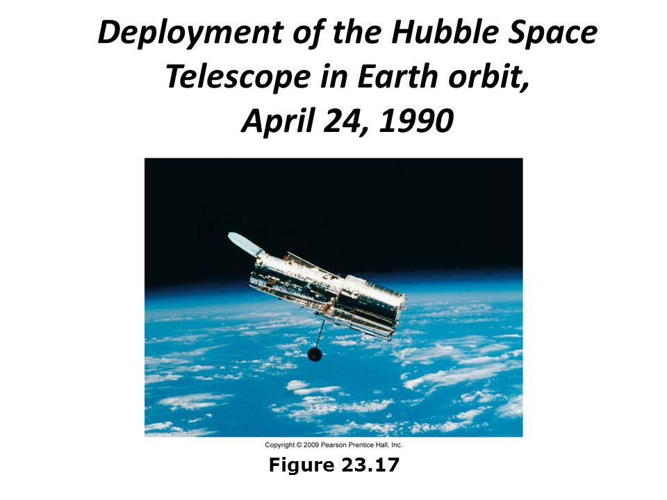 Deployment of the Hubble Space Telescope in Earth orbit, April 24, 1990 Figure 23.17