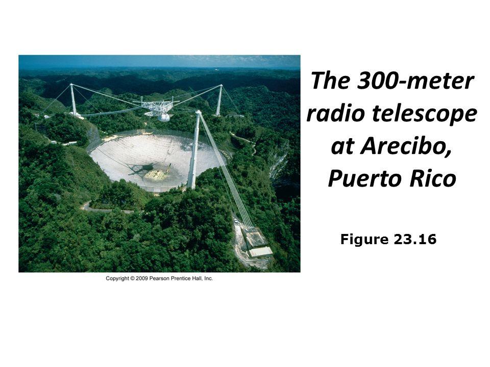 The 300-meter radio telescope at Arecibo, Puerto Rico Figure 23.16