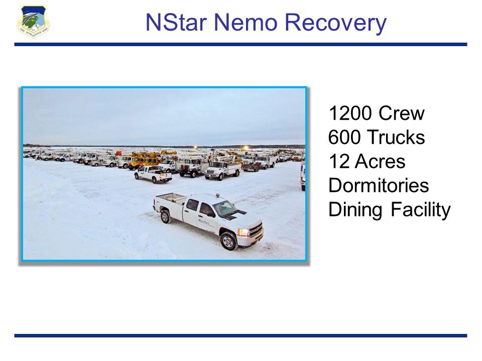 NStar Nemo Recovery 1200 Crew 600 Trucks 12 Acres Dormitories Dining Facility