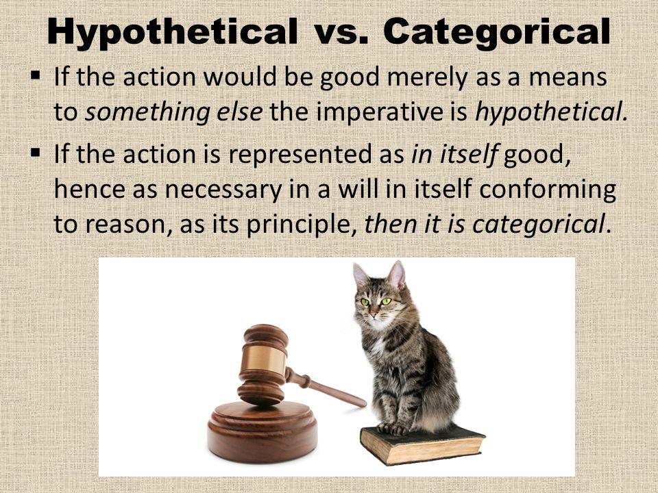 Hypothetical vs.