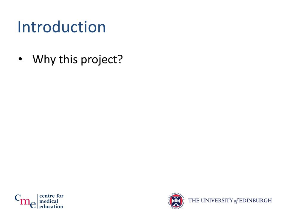 Introduction Why this project?