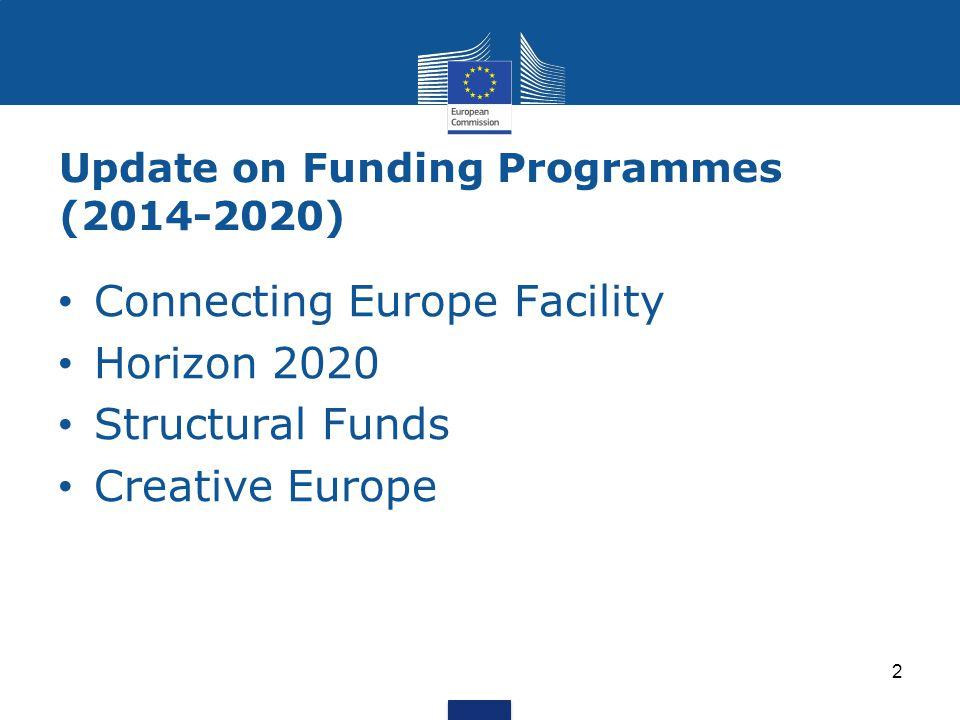 Connecting Europe Facility http://ec.europa.eu/digital-agenda/en/connecting- europe-facility http://ec.europa.eu/digital-agenda/en/connecting- europe-facility 3