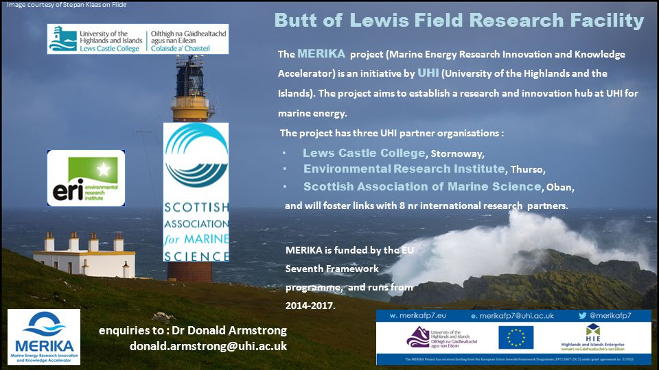 The MERIKA project (Marine Energy Research Innovation and Knowledge Accelerator) is an initiative by UHI (University of the Highlands and the Islands)