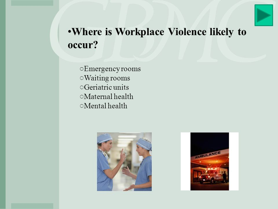 Anti- Workplace Violence Safe Practice Warning Signs: ○Verbally expressed anger and frustration.