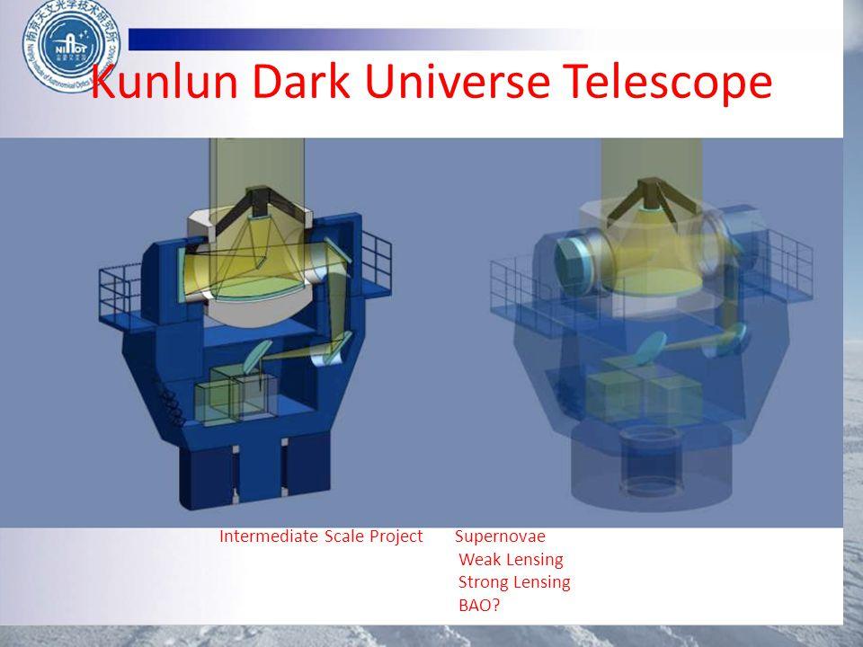 Kunlun Dark Universe Telescope Intermediate Scale Project Supernovae Weak Lensing Strong Lensing BAO?