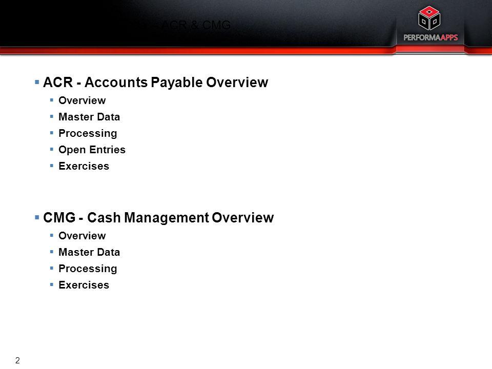 Template V.16, July 19, 2011 Finance Training Agenda – Accounts Payable Accounts Payable Overview 3