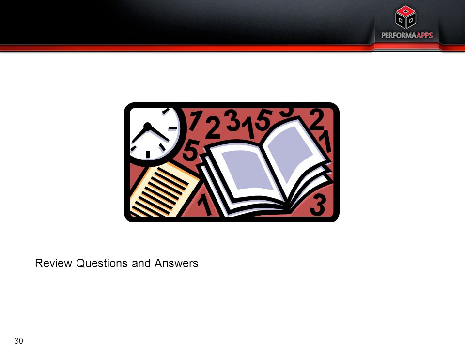 Template V.16, July 19, 2011 Review Questions and Answers 30