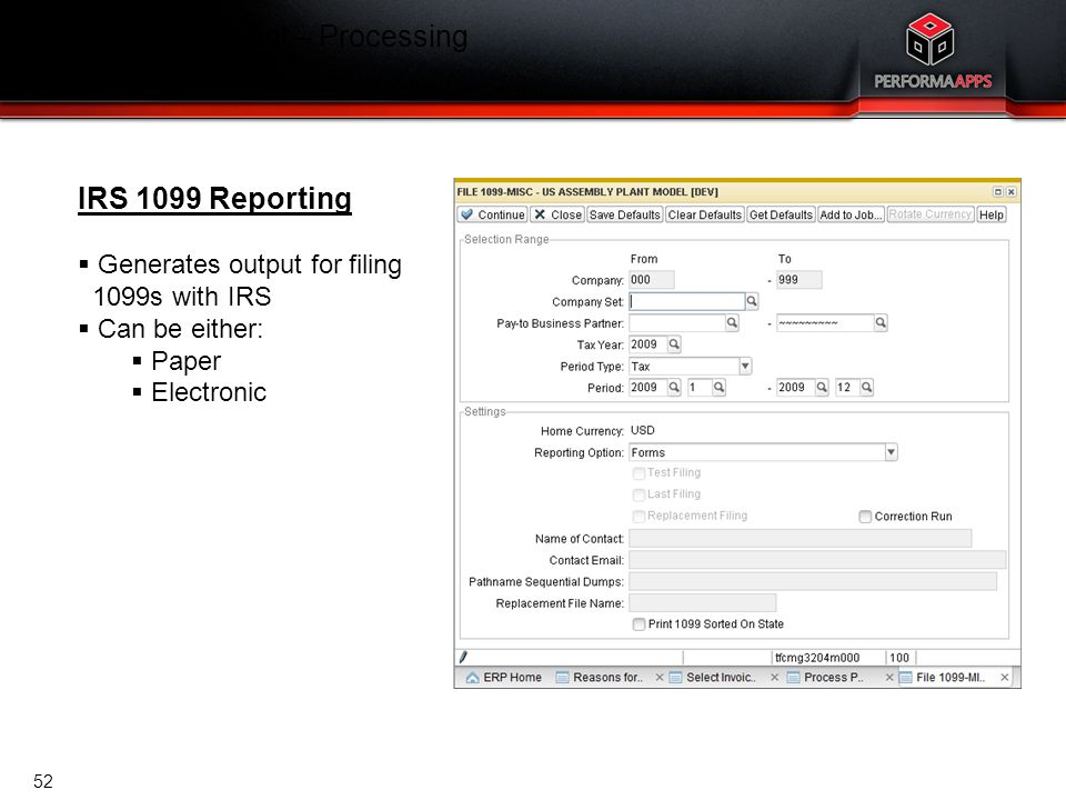 Template V.16, July 19, 2011 Cash Management – Processing IRS 1099 Reporting IRS 1099 Reporting  Generates output for filing 1099s with IRS  Can be