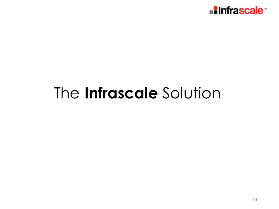 14 The Infrascale Solution