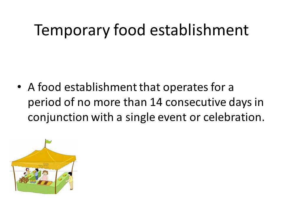 Temporary Events
