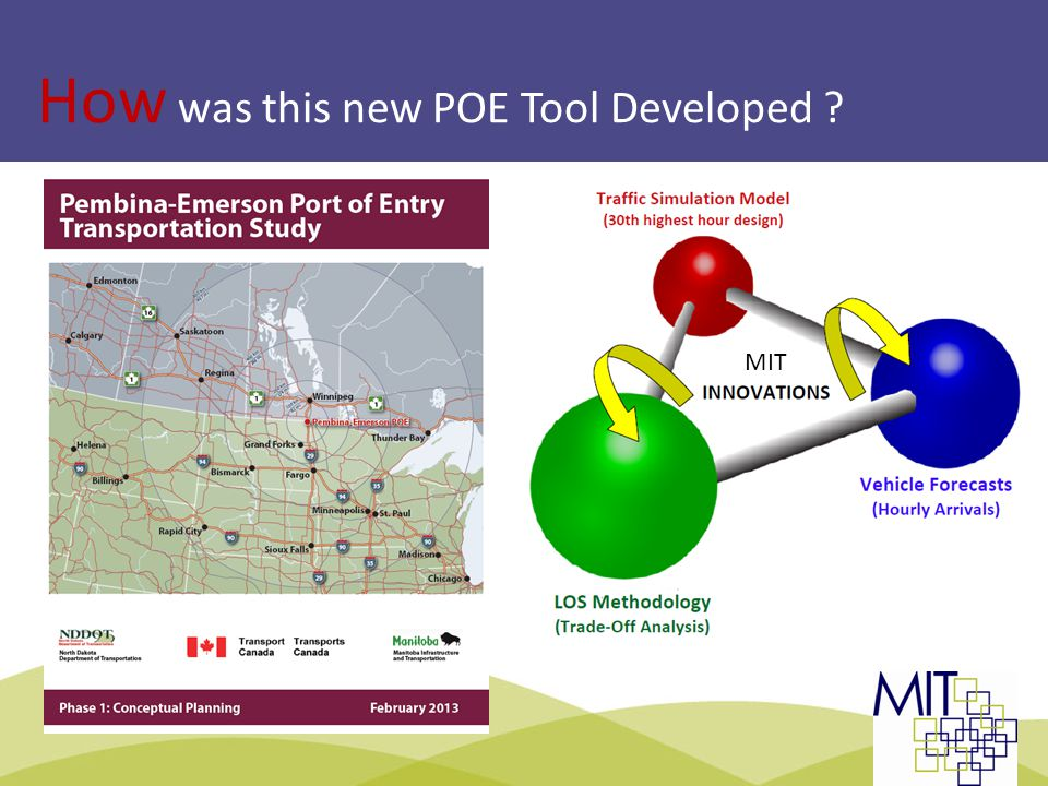 How was this new POE Tool Developed MIT TBWG | Montreal 2013Slide 6: LOS Methodology