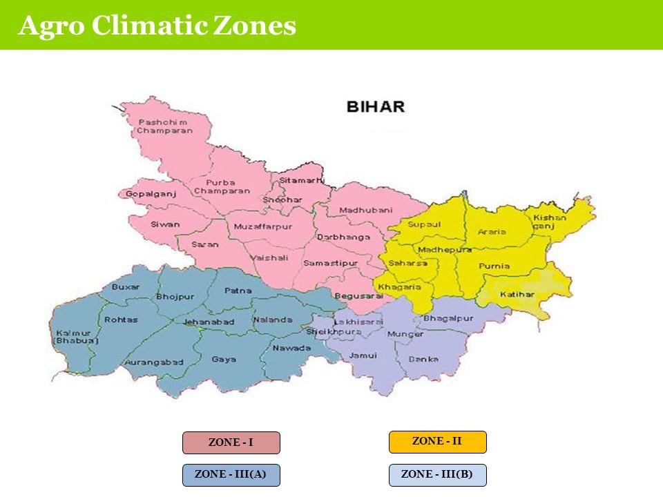 AGRO CLIMATIC ZONES ZONE - I ZONE - II ZONE - III(A) ZONE - III(B) Agro Climatic Zones