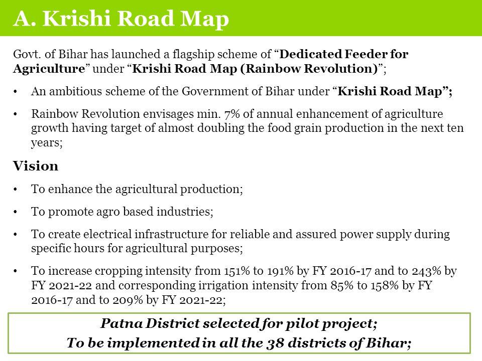 A. Krishi Road Map Govt.