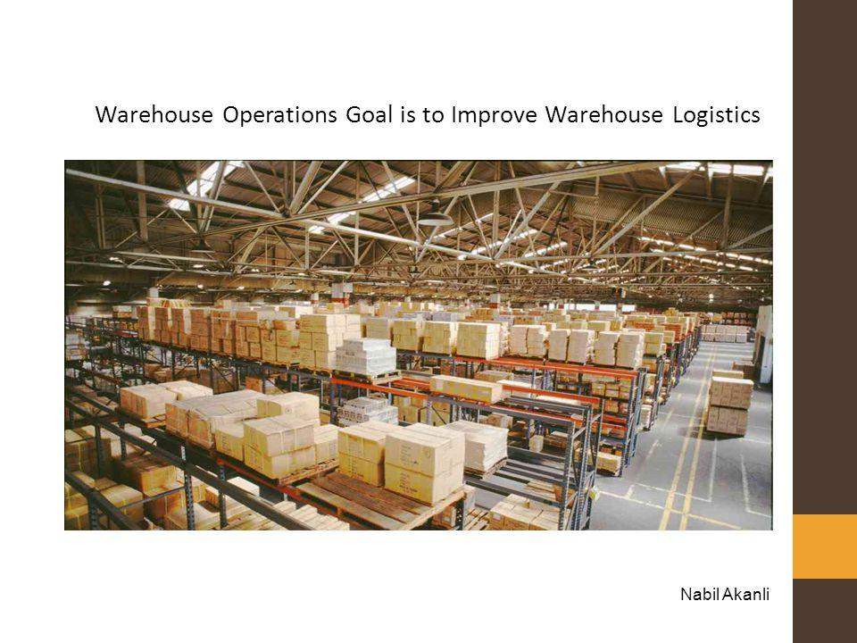 Warehouse Operations Goal is to Improve Warehouse Logistics Nabil Akanli
