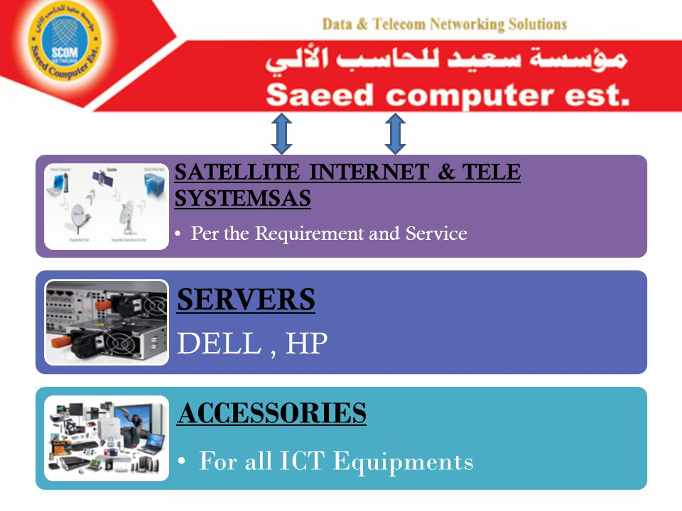 MONITORS & BRACKETS View sonic, HP, Dell SERVICE SUPPORT For all ICT Equipments VIDEO/AUDIO CONFERENCING Video/Audio Conferencing