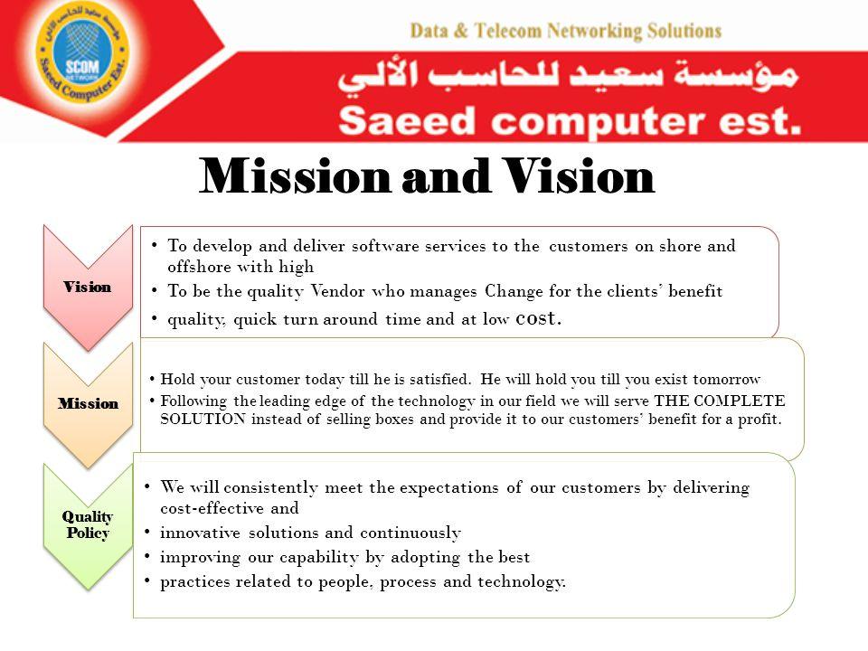 About Saeed Computer Est (Scomsys) : (SCOMSYS ) Founded in 1995 IT professionals, Offering a wide range of cross- IT-industry products, applications and services to meet the majority IT infrastructure needs of our customers SCOM core strength & value come from the expertise of being able to mend various pieces of technologies together to deliver solutions that actually solve customer problems.